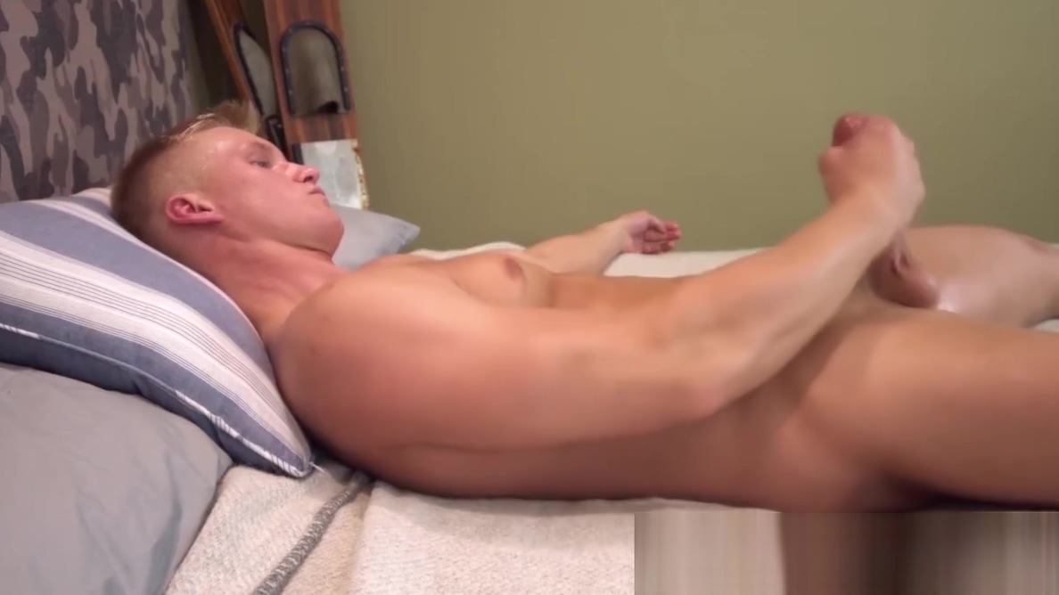 Gorgeous athletic blond soldier tugs his long hard cock Lesbians MILF eat pussy