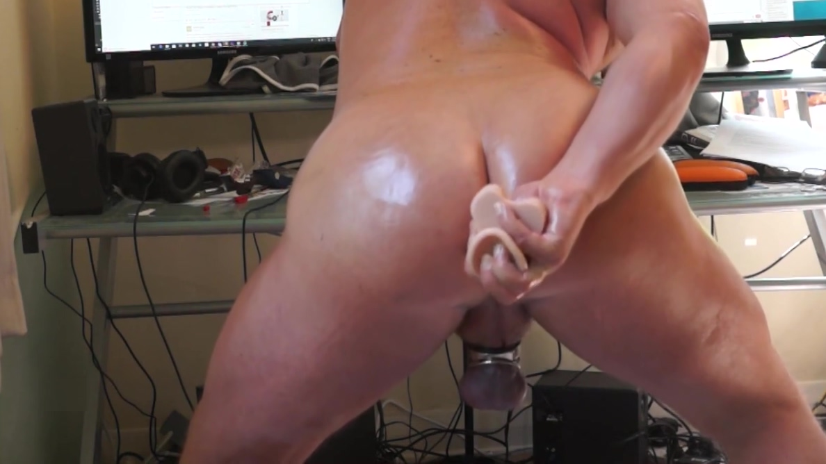 PHIL WILLIAMS: A webcam dildo session Natural titted blonde lesbians Barbara Summer and