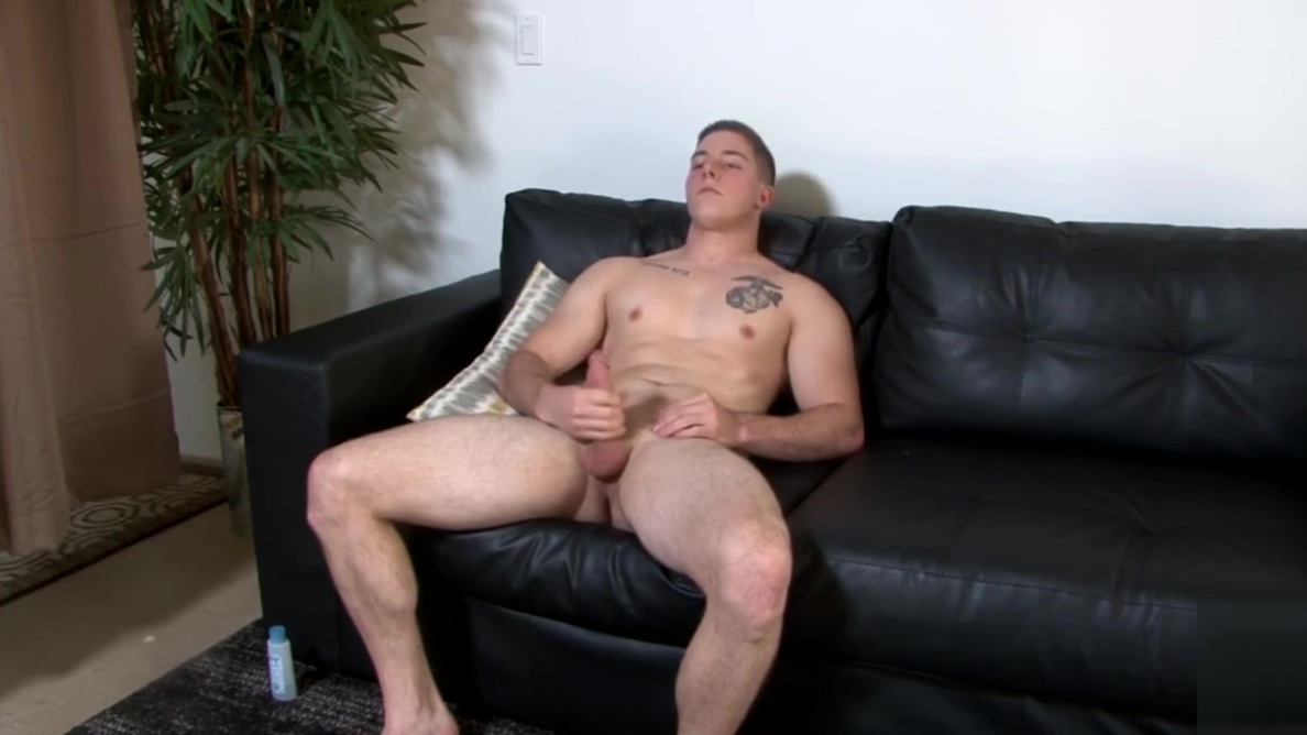 Handsome solo marine spraying hot jizz Naked b cup girls