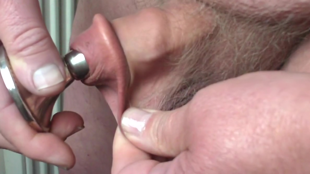 Foreskin with silver candle holder Bb18 nudes