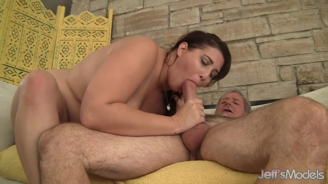Gorgeous Chubby Babe Angel DeLuca Rides an Old Man out of His Mind young horny chicks fucking porn videos