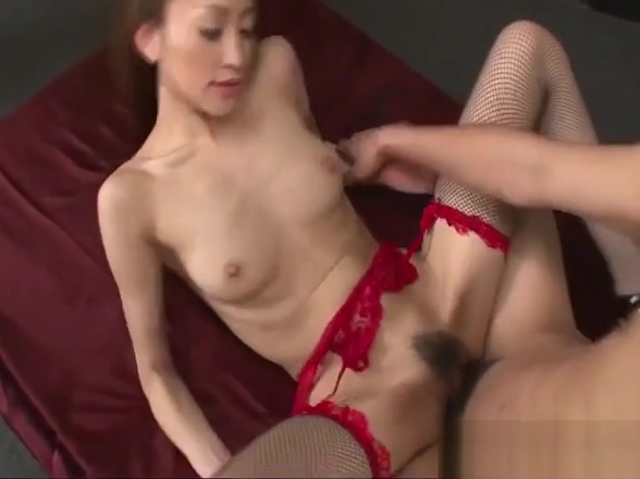 Cock happy Yuu Kusunoki is woke up to take on two stiff rods Heavenly Suffering Both Scenes