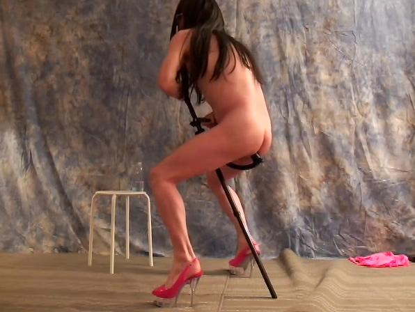 Strip & Dildo Stick Masturbation