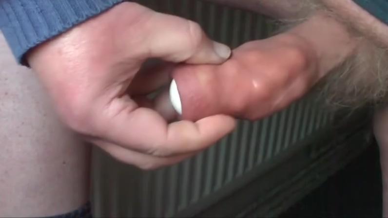 Foreskin - 17 steel balls plus table tennis ball - 4 videos black girl gags cock
