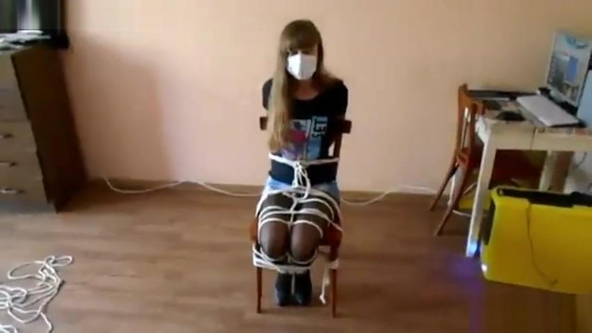 Olga selfbondage on chair Nude sharing website