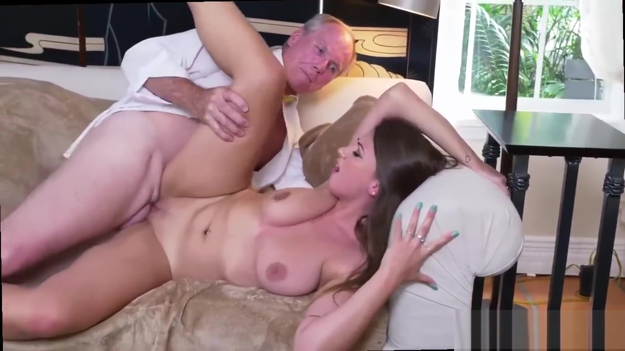 And young girl with virgin old man in kitchen and old asian granny and mature dick gobbler moans
