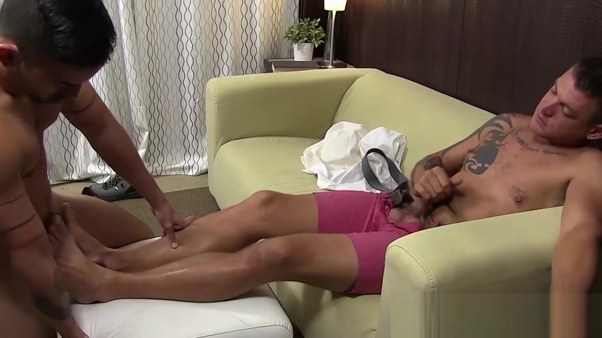 Deviant hunk worships feet while stroking his hard dick Sexy upskirt asian
