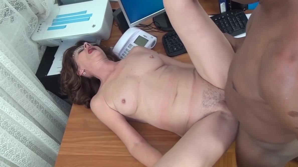 Fucking grandma in the office
