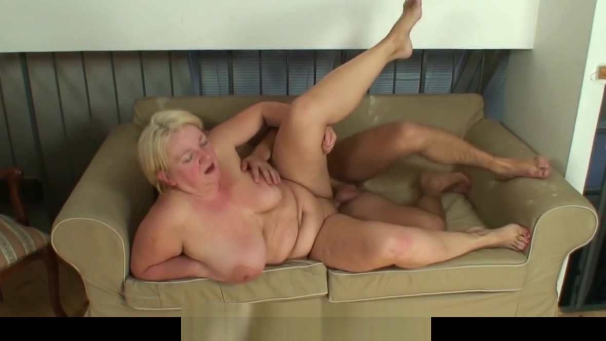 70 years old blonde grandma pleases young stud Huge dick porn pic