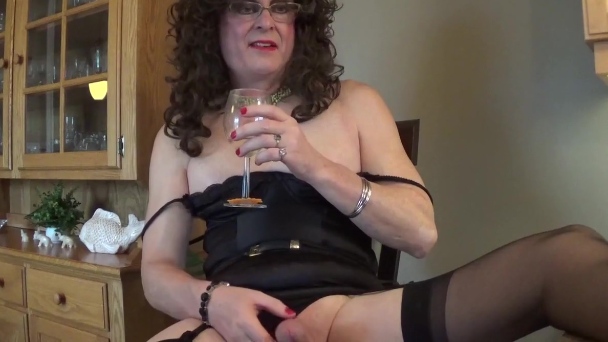 Slutty married sissy saying way too much perfume that strippers wear
