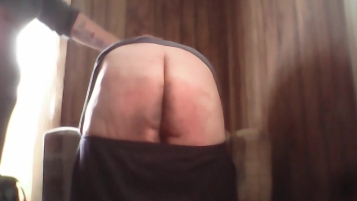 Belt Spanking Sexy tits on cock ride gif