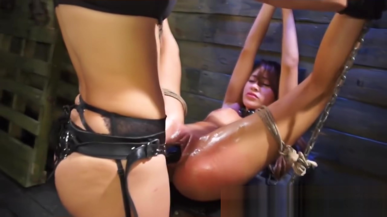 Brunette is abused by her mistress number one penis enlarger