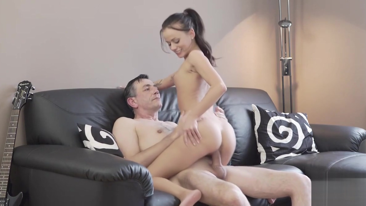 OLD4K. Lovely chick wasnt against sex with handsome old...