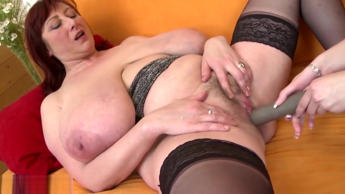 Beautiful busty mom spoiling young daughter