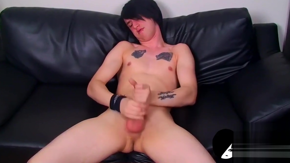 Young emo twink strokes his big uncut dick and cums solo Blue Is the Warmest Color