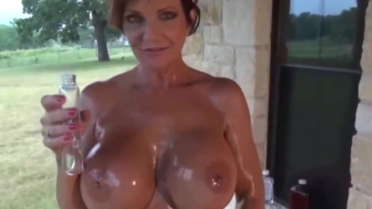 Deauxma Fit Busty MILF Oil Fun - PolishViking Big tit biker party sluts
