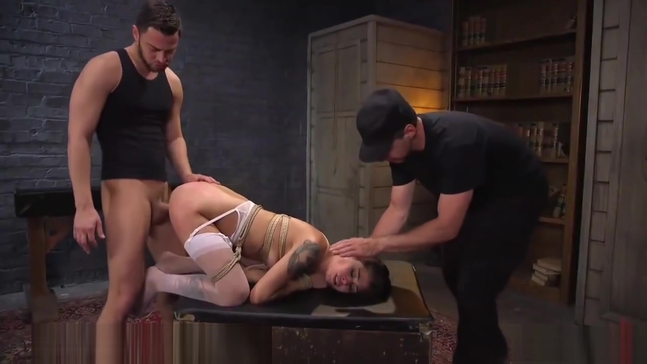 LITTLE SCHOOL GIRL DOMINATED BY TWO GUYS