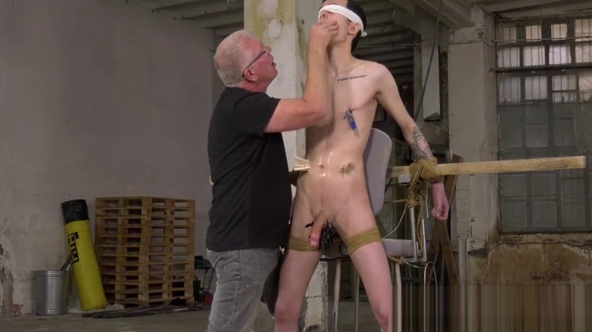 Smooth twink gets bound and blown by perverted old man Libra guys favorite sex position