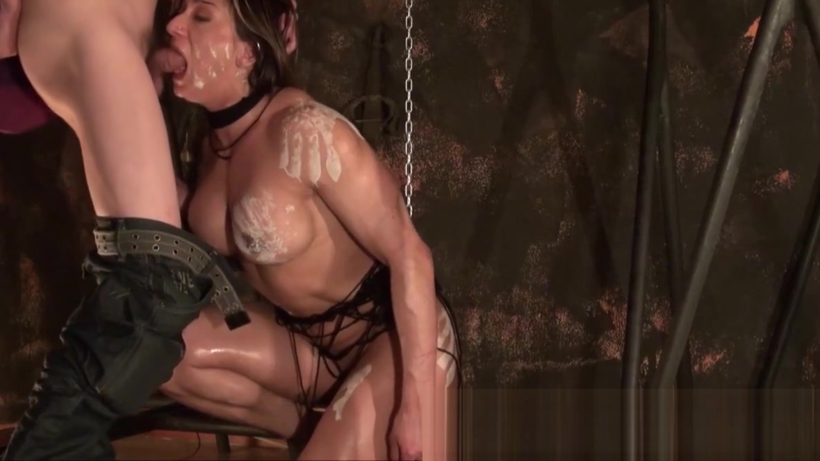 Muscled woman tied in a homemade BDSM scene Jet set radio porn