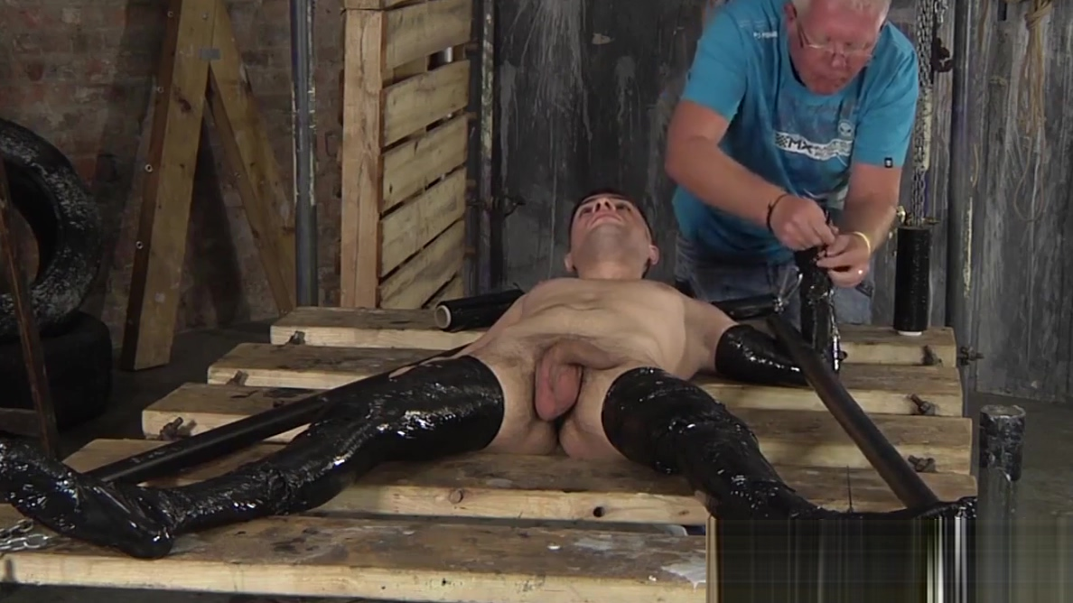 Hot boy getting binded in black foil Hot pregnant chick fucking milky tits