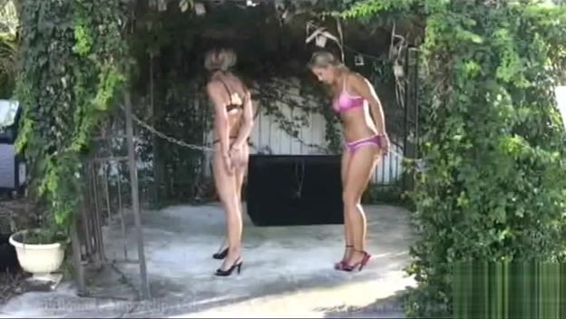 girls handcuffed Money talks bikini shop princess