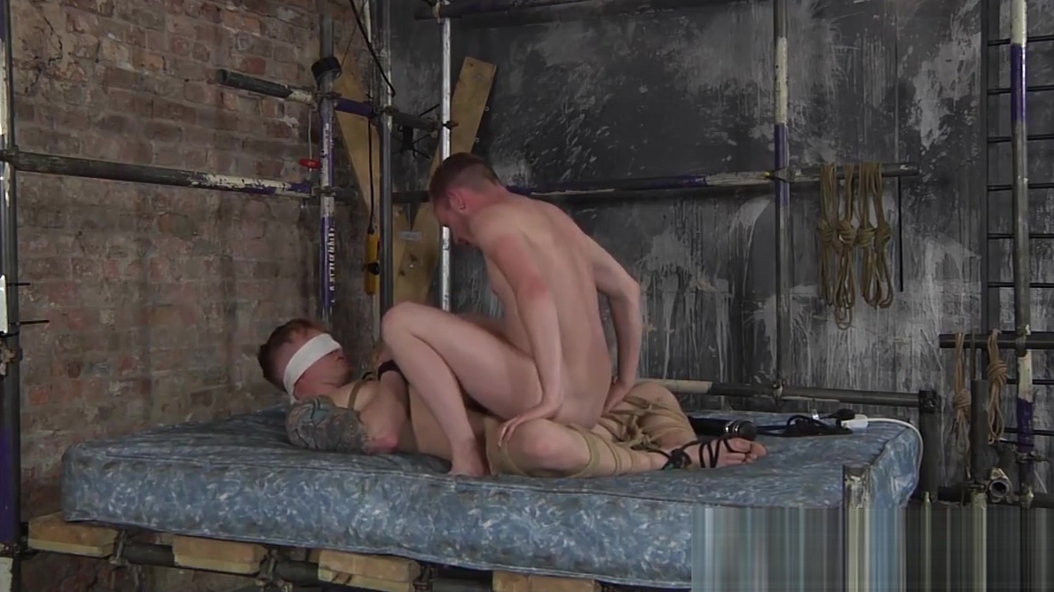 Sean Taylor ties up his bottom bitch Tyler Underwood Stockings And Nylons Bondage Wmv