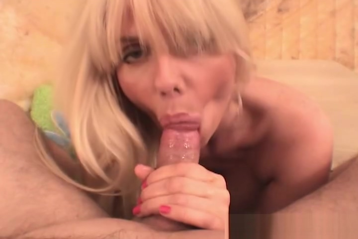 Mature blonde bimbo slurps cocks girlfriend sex gif