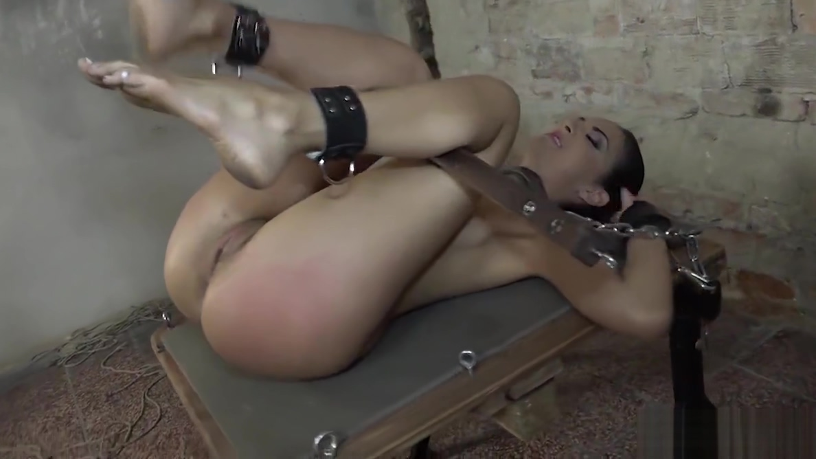 Hot Submissive brunette whore gets machine fucked Sexy asian masseuse