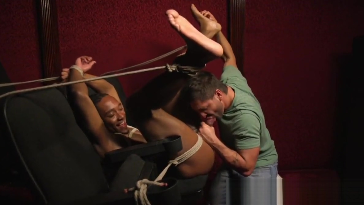 Ball gagged black edging sub jerked by dom Uk hook up