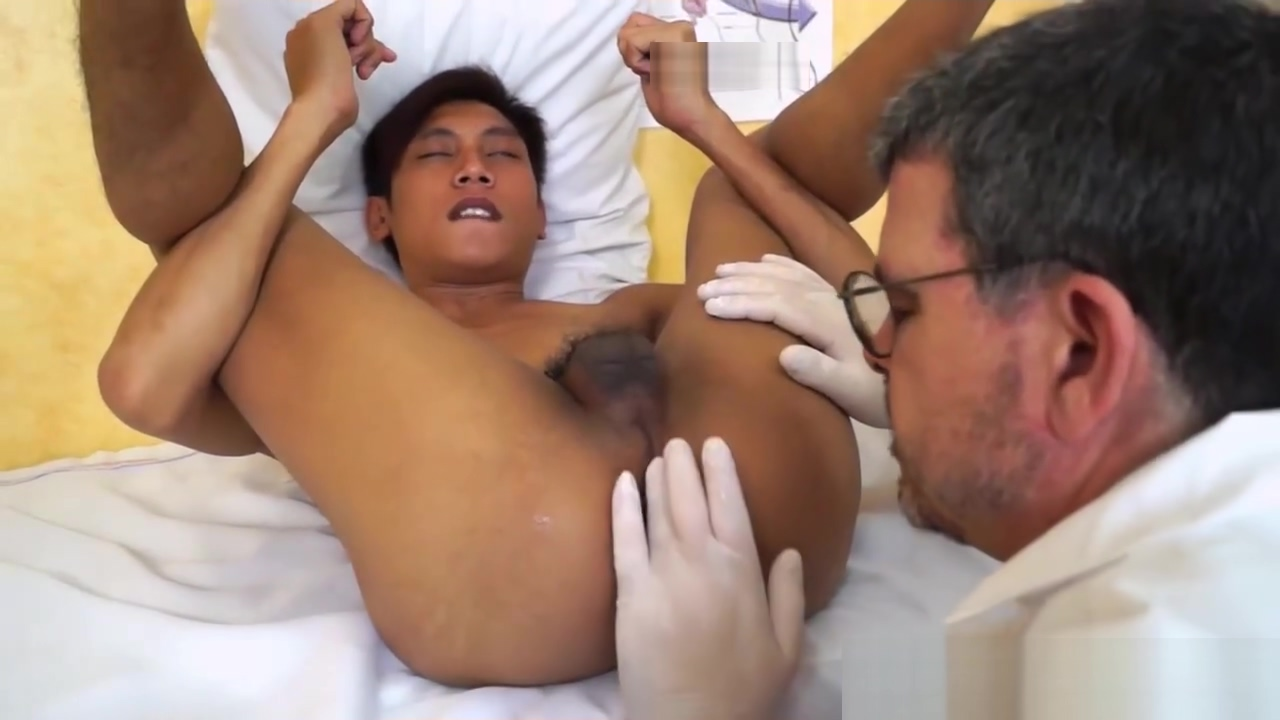 Kinky Gay Asian Medical Exam older woman showing pussy