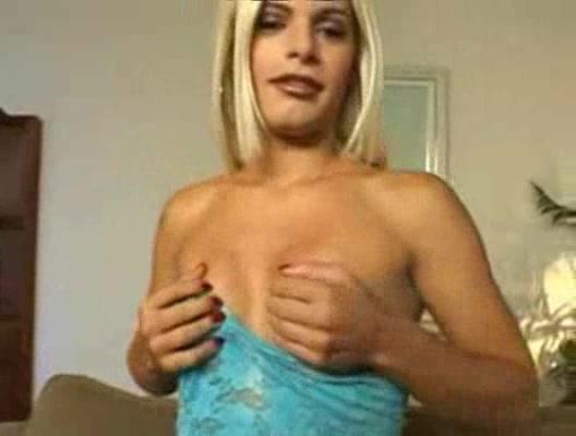 Sweet Blondie Gets Banged In Condom