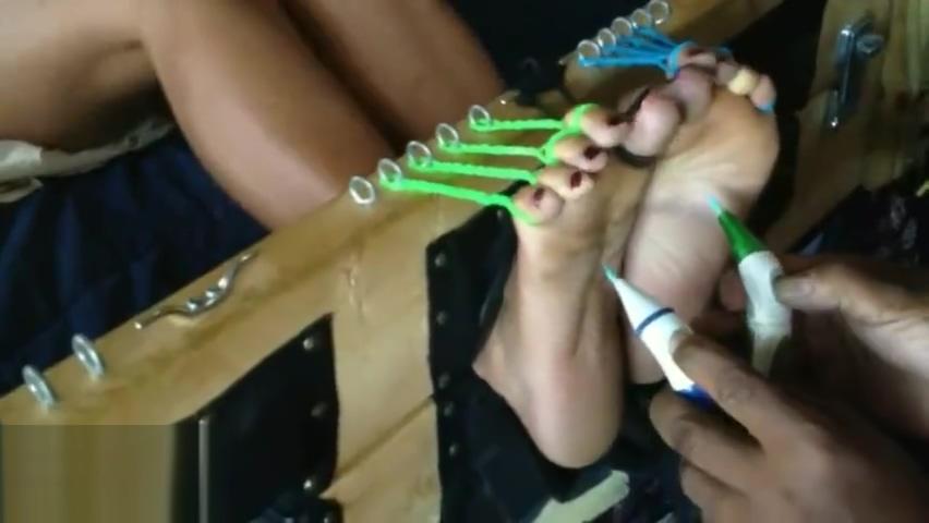 Ebony toe-tied stockade tickle. Brooke lee playmates terri jane