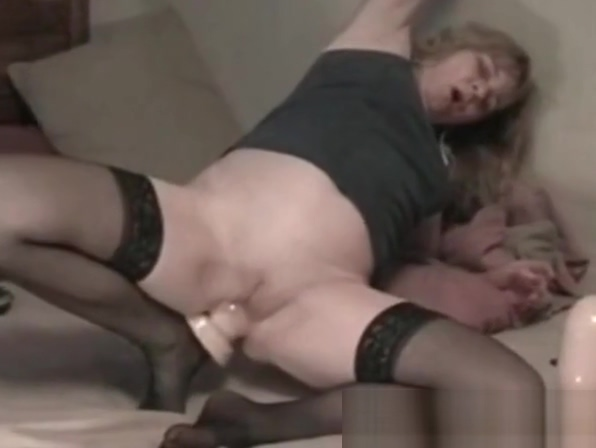 My MILF Exposed Wife with huge dildo up her ass