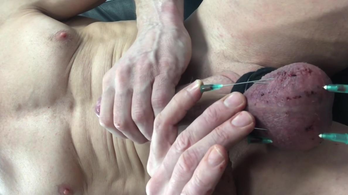 Needles in balls sperm draining Girl shaking boobs nude