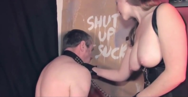 Sissy in a gloryhole suck until get some cum Sick fucking chinese porn