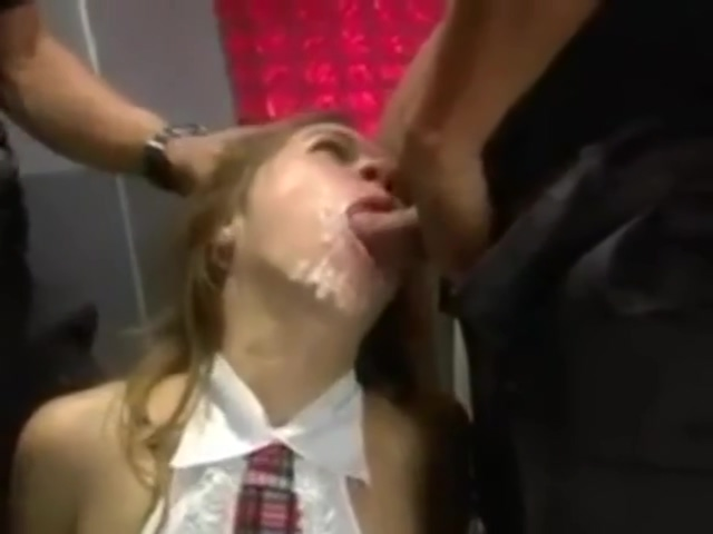 Hot girl bukkake full length reverse blowjob