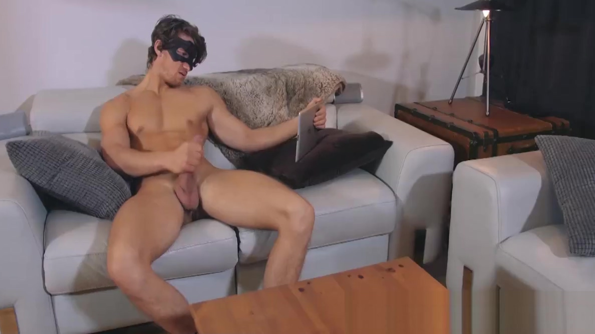 Good looking twink watches porn on tablet while jerking off american free download full sex films