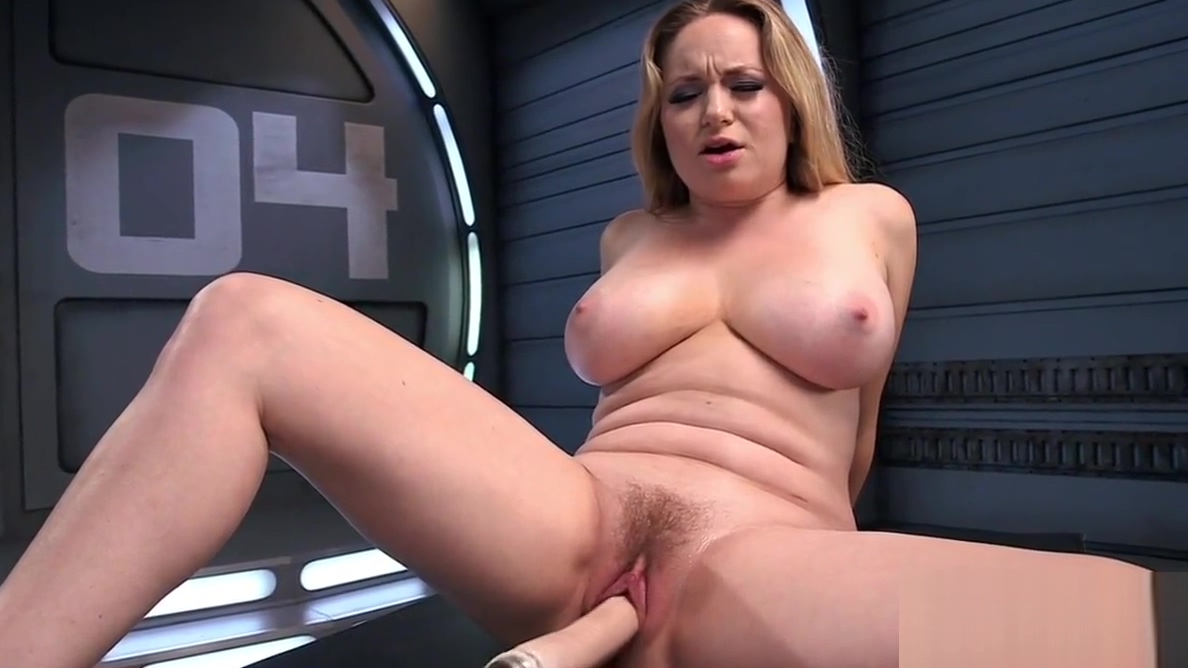 Busty blonde rubs pussy before dildo toying Office ass pics