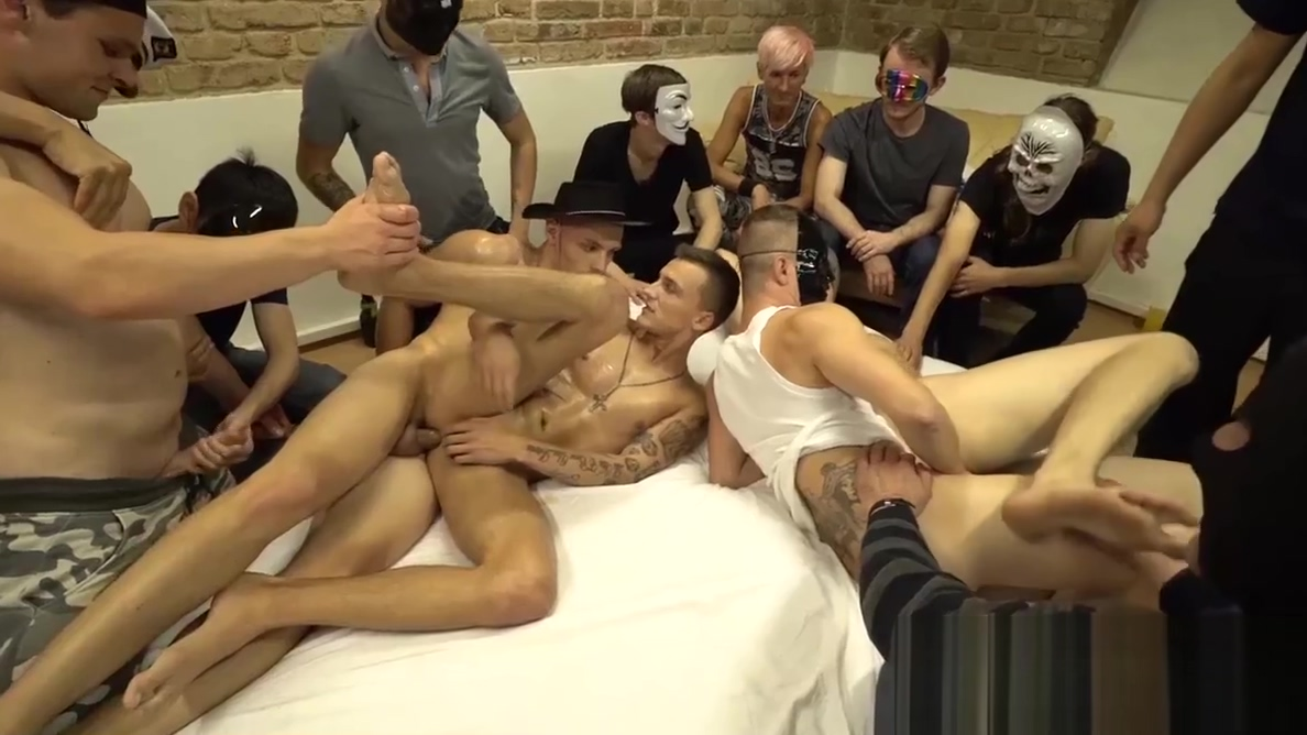 Secret bareback orgy with masked studs and jocks Where to hook up in a car
