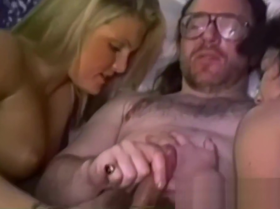 Ed enjoys in hot threesome with hot babes Bonita and Harley Big ass high heels
