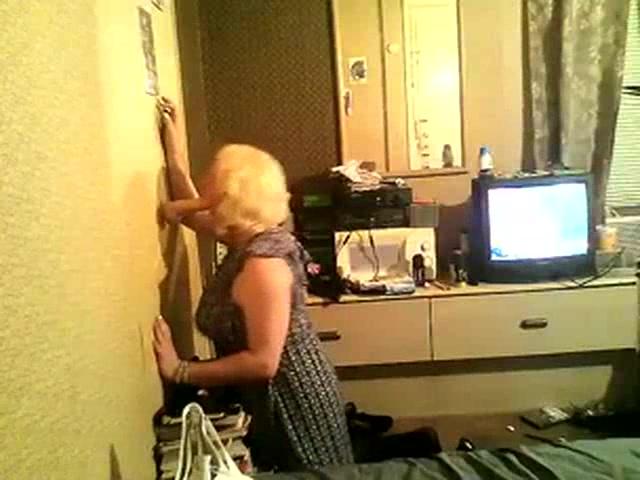 Horny CD Andrea Sucking A Dildo