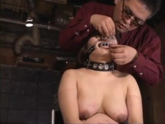 Jap BBW slave got needles pierced lip to keep her mouth shut
