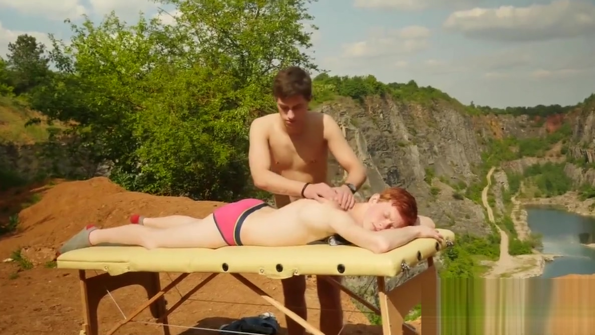 Ginger twink breeding gently after an outdoor massage fake agent anal casting