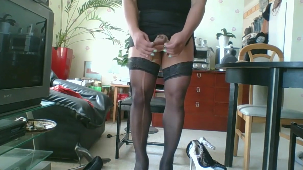 Chienne Travesti pour vous Shemale stretching ass