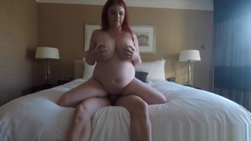 BBW Redhead Bouncing Her Curvy Ass on a Fat Cock Taxi Driver Fucks Big Boobs Passenger