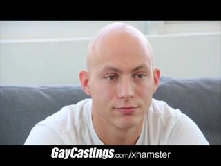 GayCastings bald erotic dancer acquires smooth firm a-hole load Stick your nose in my stinky socks