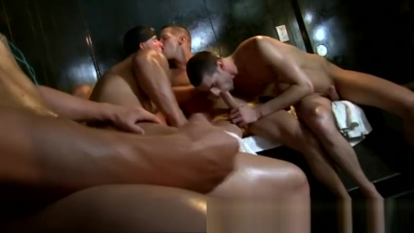 Hot Guys Turn Up the Heat in the Sauna Hannah montana pussy hole