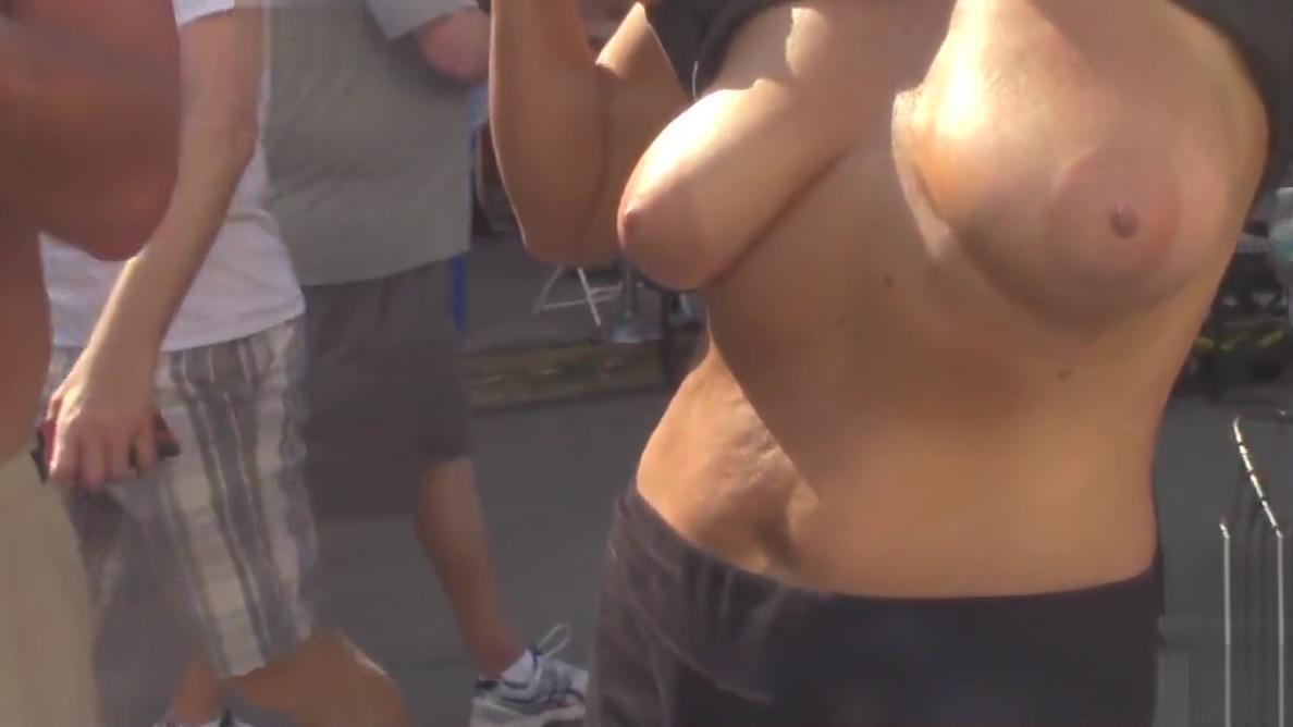 Fantasy Fest Street Sluts never before seen video Real boobs tits fucking