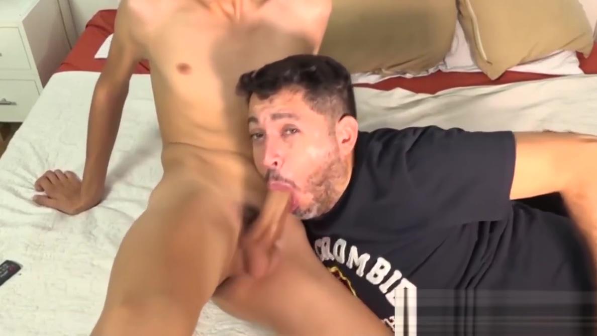 Mature gay dude sucks off his twinkie boyfriend for a facial Ginger lynn double penetration