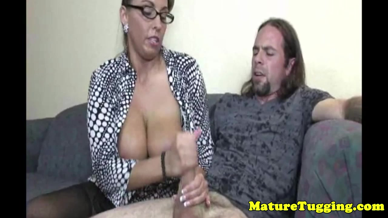 Pierced milf tugging cock with her melons out porn sis loves me